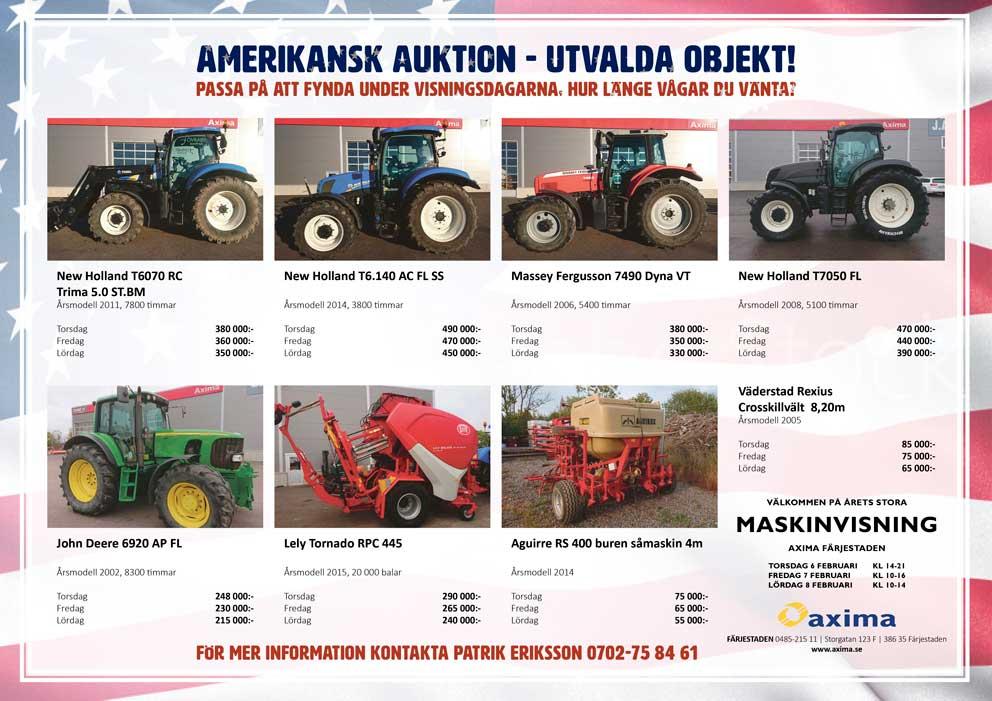 Amerikansk auktion med Axima