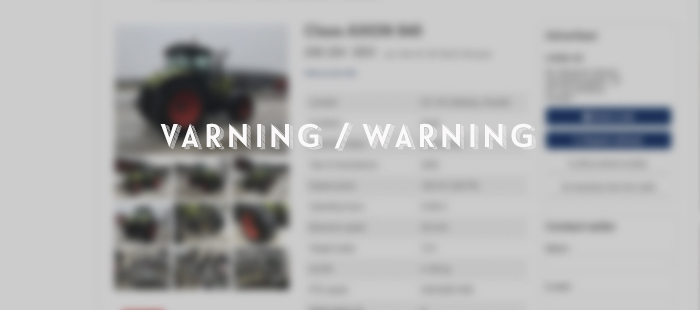 varning för bedragare