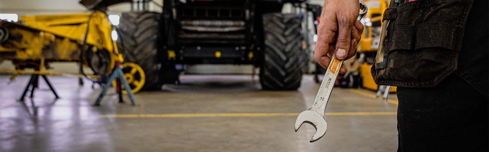 Vinterserva din traktor, maskin eller tröska
